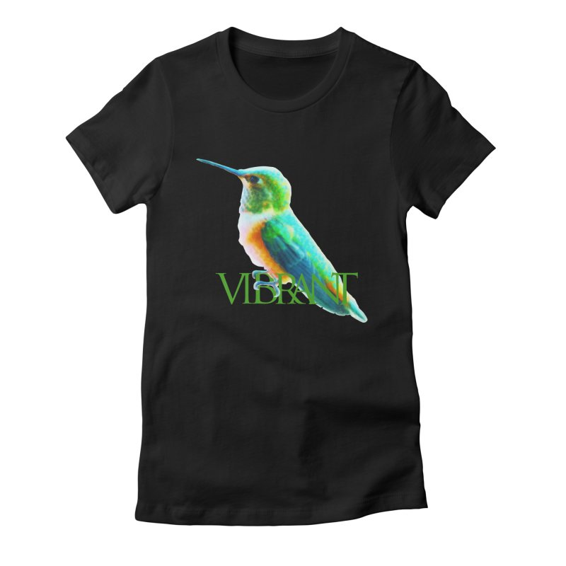 Young and Vibrant Women's Fitted T-Shirt by Of The Wild by Kimberly J Tilley