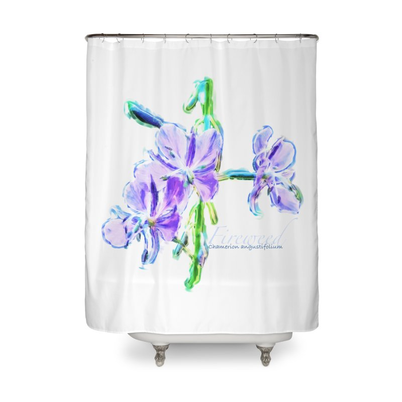Fireweed Home Shower Curtain by Of The Wild by Kimberly J Tilley