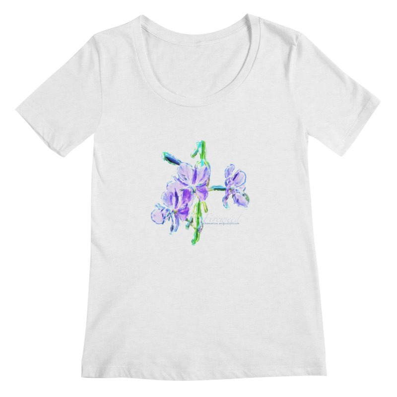 Fireweed Women's Regular Scoop Neck by Of The Wild by Kimberly J Tilley