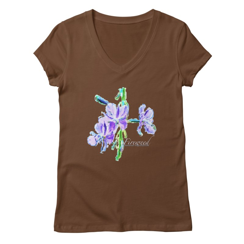 Fireweed Women's Regular V-Neck by Of The Wild by Kimberly J Tilley