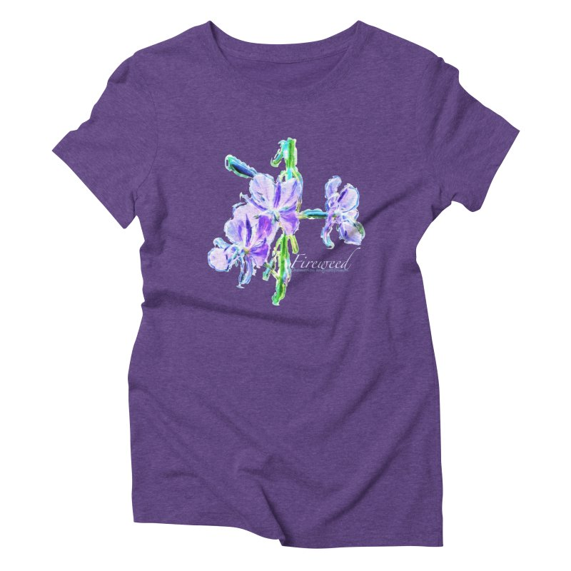 Fireweed Women's Triblend T-Shirt by Of The Wild by Kimberly J Tilley