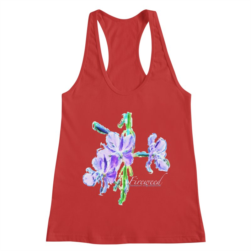 Fireweed Women's Racerback Tank by Of The Wild by Kimberly J Tilley