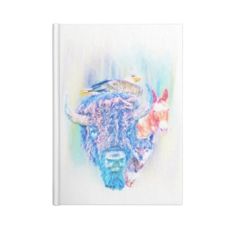 American Spirit Accessories Blank Journal Notebook by Of The Wild by Kimberly J Tilley