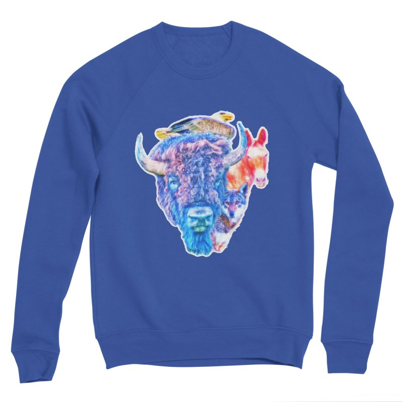 American Spirit Women's Sweatshirt by Of The Wild by Kimberly J Tilley