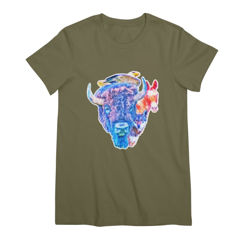 American Spirit Women's Premium T-Shirt by Of The Wild by Kimberly J Tilley