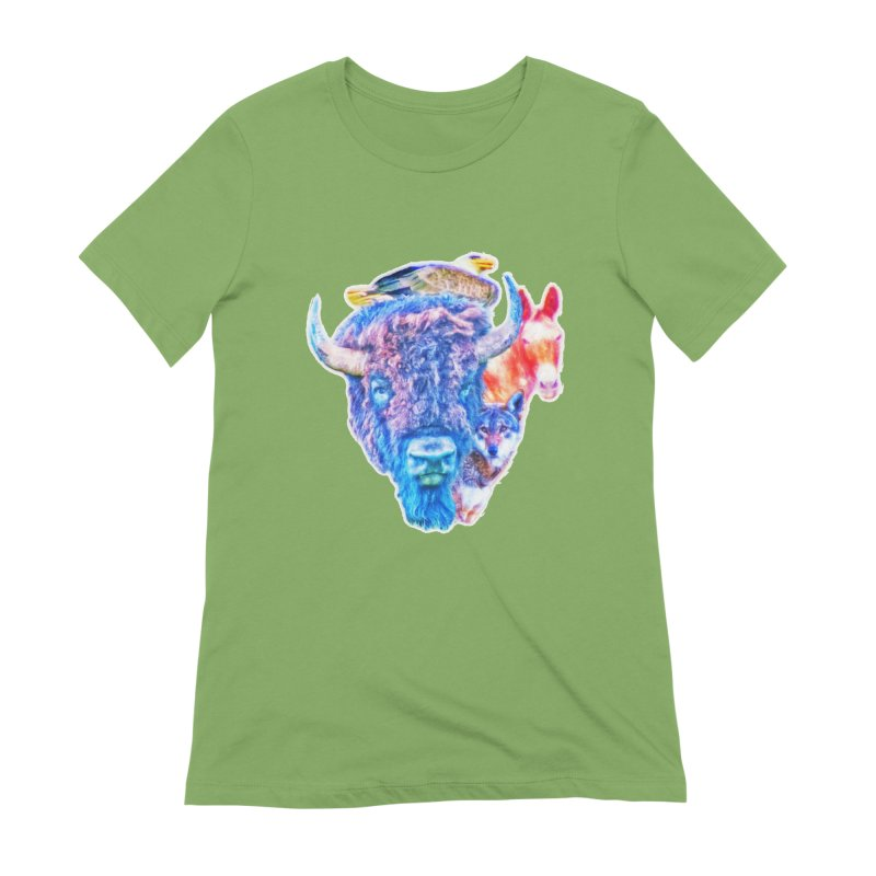 American Spirit Women's Extra Soft T-Shirt by Of The Wild by Kimberly J Tilley