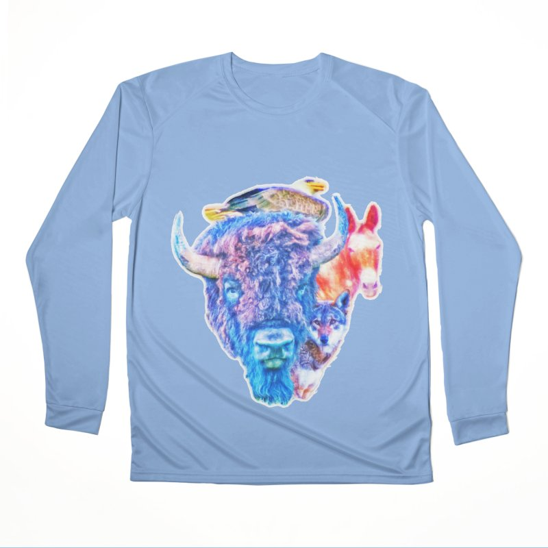 American Spirit Men's Longsleeve T-Shirt by Of The Wild by Kimberly J Tilley