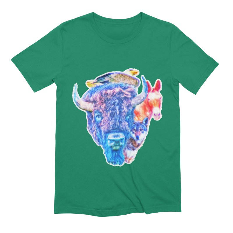 American Spirit Men's Extra Soft T-Shirt by Of The Wild by Kimberly J Tilley