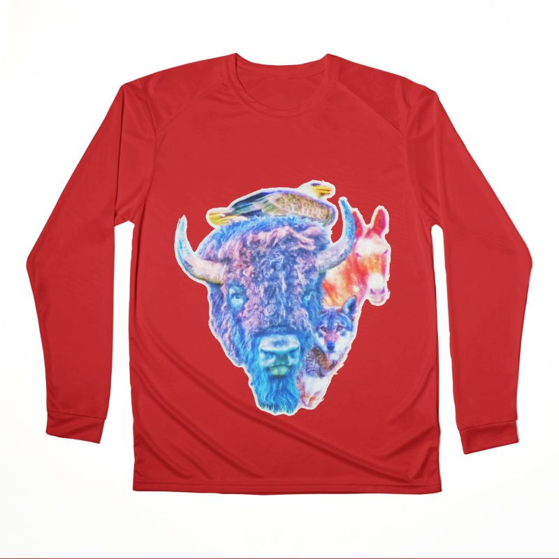 American Spirit Women's Performance Unisex Longsleeve T-Shirt by Of The Wild by Kimberly J Tilley