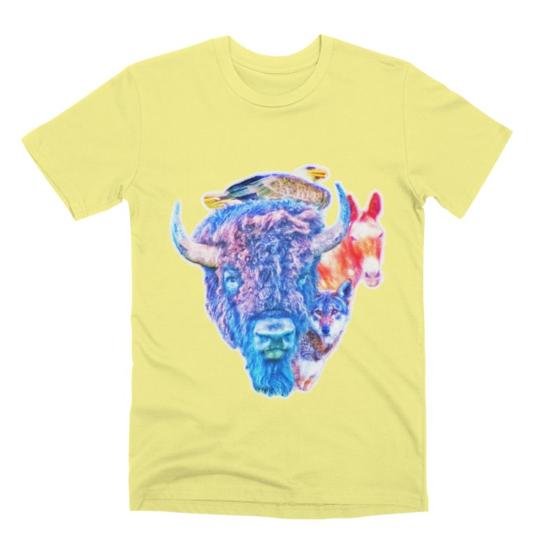 American Spirit Men's Premium T-Shirt by Of The Wild by Kimberly J Tilley