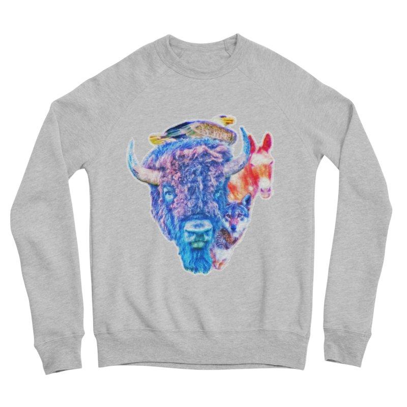 American Spirit Women's Sponge Fleece Sweatshirt by Of The Wild by Kimberly J Tilley