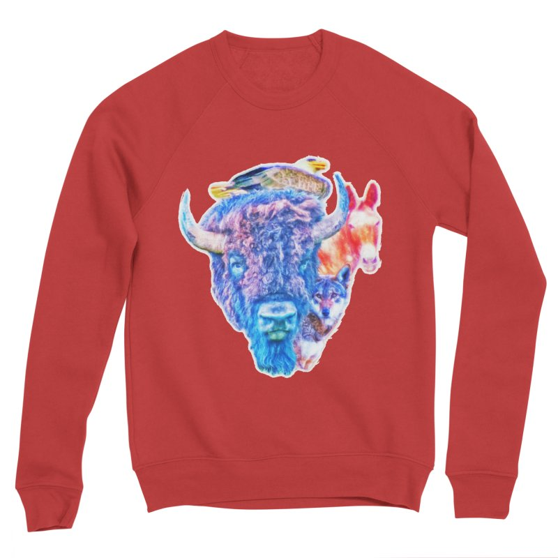 American Spirit Men's Sponge Fleece Sweatshirt by Of The Wild by Kimberly J Tilley