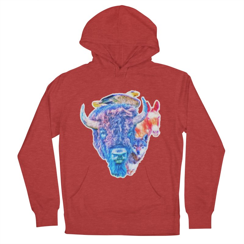 American Spirit Men's French Terry Pullover Hoody by Of The Wild by Kimberly J Tilley