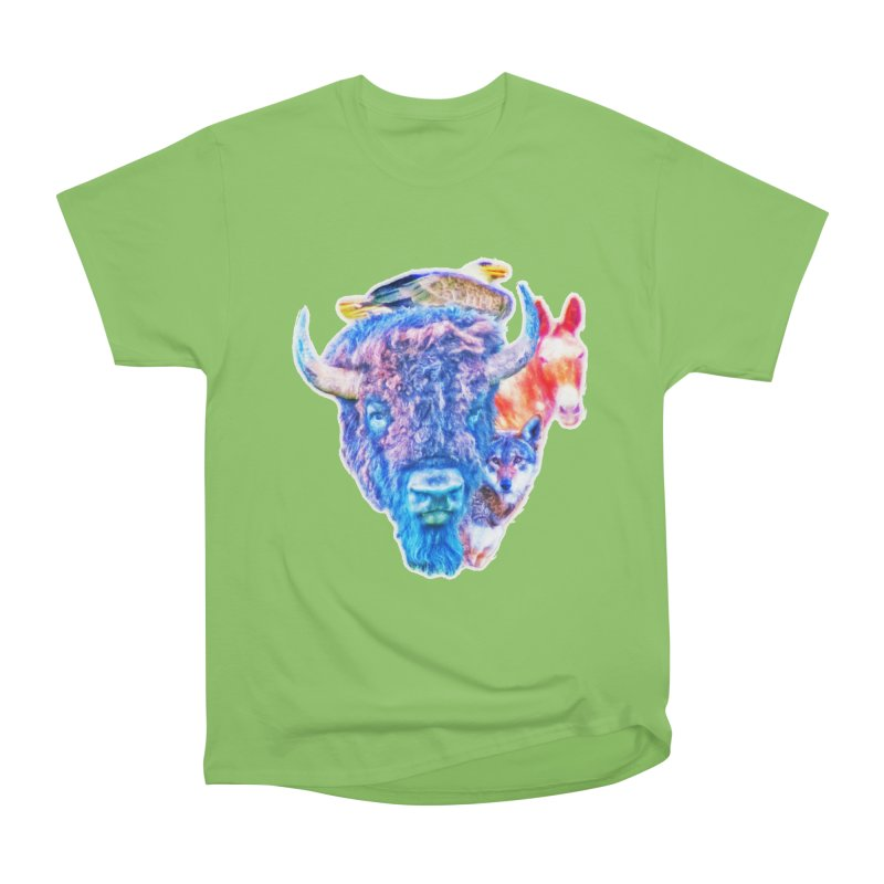 American Spirit Men's Heavyweight T-Shirt by Of The Wild by Kimberly J Tilley