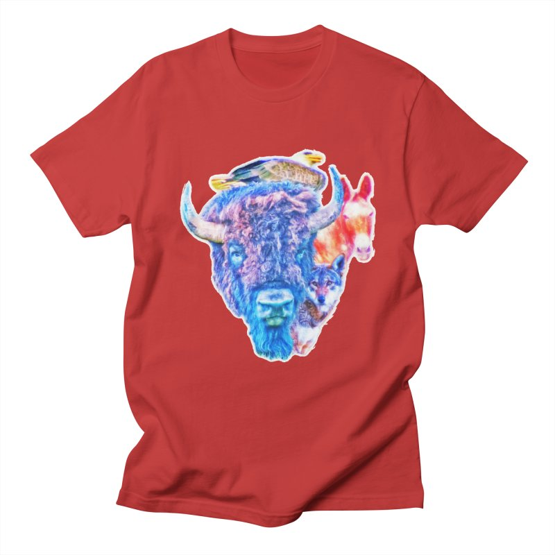 American Spirit Men's Regular T-Shirt by Of The Wild by Kimberly J Tilley