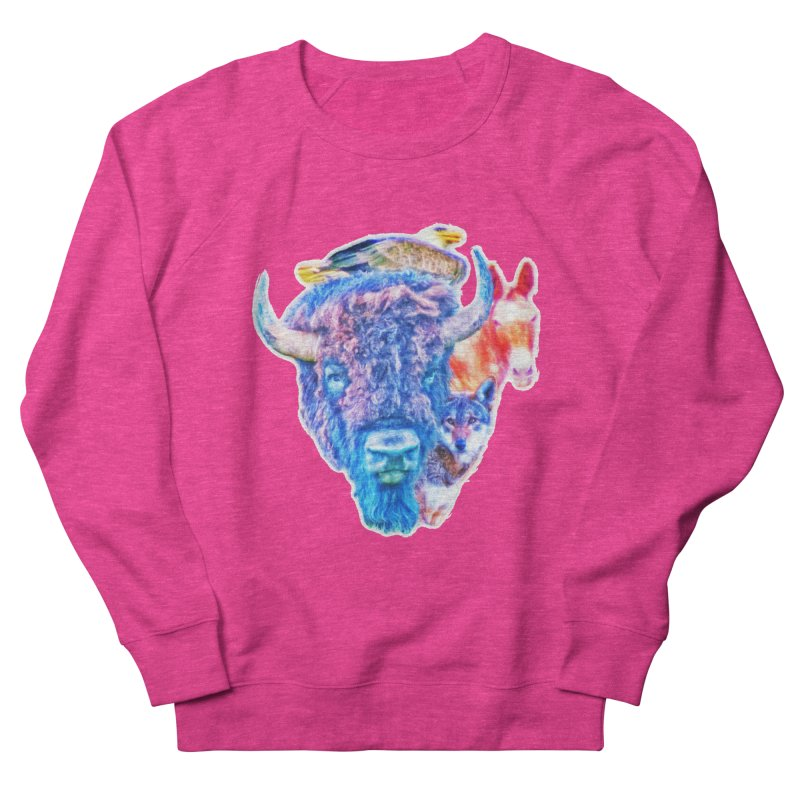American Spirit Women's French Terry Sweatshirt by Of The Wild by Kimberly J Tilley