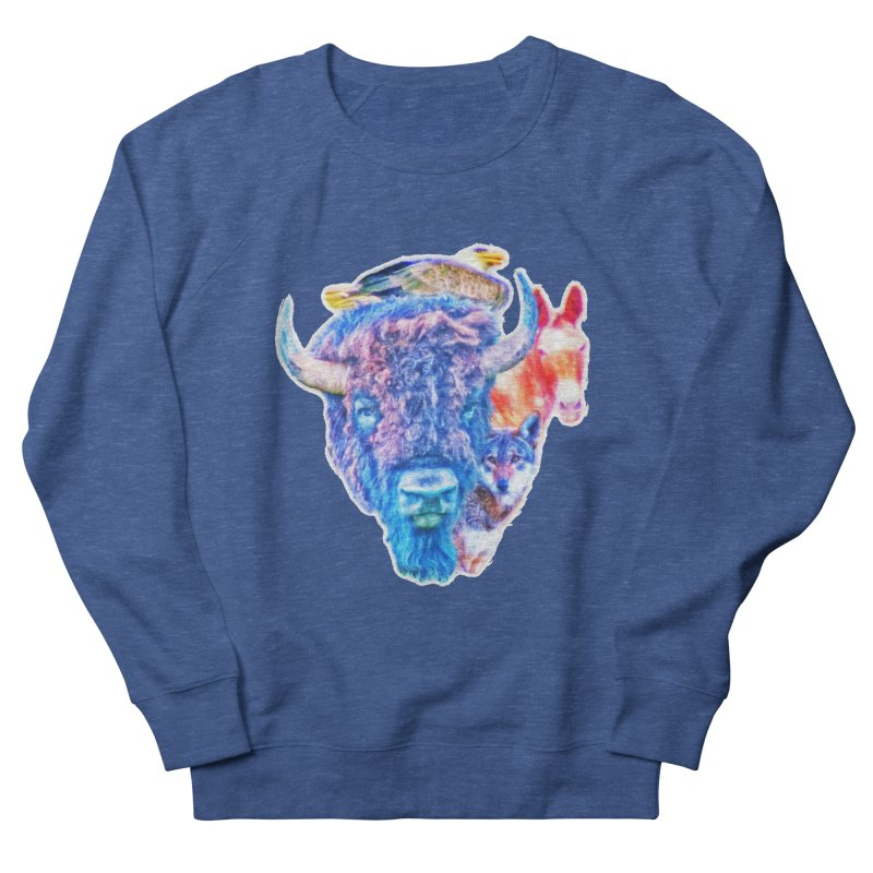 American Spirit Men's Sweatshirt by Of The Wild by Kimberly J Tilley