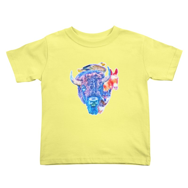 American Spirit Kids Toddler T-Shirt by Of The Wild by Kimberly J Tilley