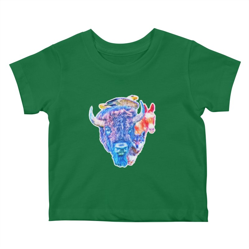 American Spirit Kids Baby T-Shirt by Of The Wild by Kimberly J Tilley