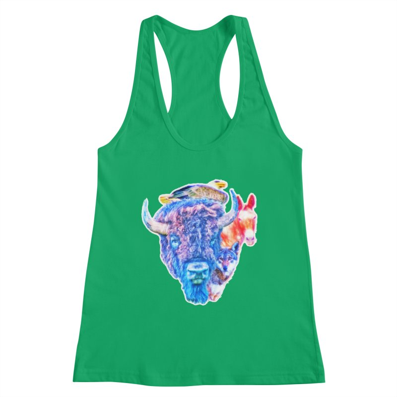 American Spirit Women's Tank by Of The Wild by Kimberly J Tilley
