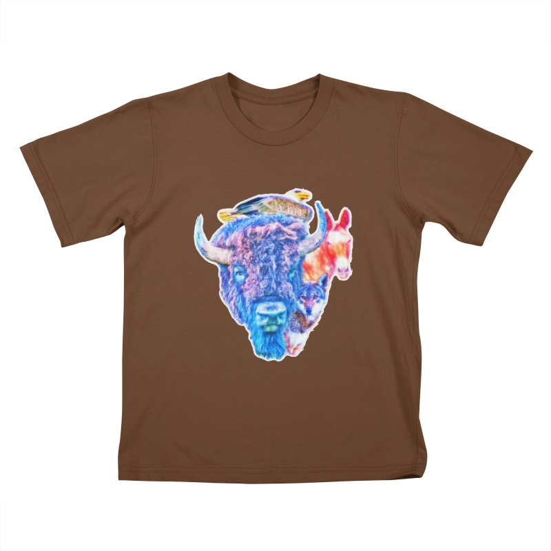 American Spirit Kids T-Shirt by Of The Wild by Kimberly J Tilley