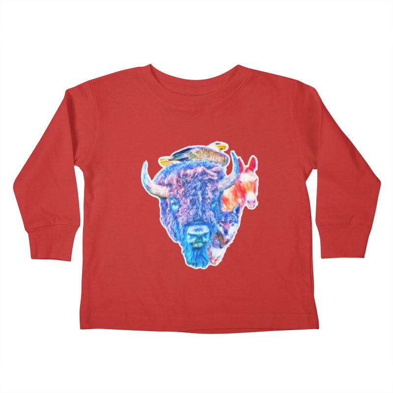 American Spirit Kids Toddler Longsleeve T-Shirt by Of The Wild by Kimberly J Tilley