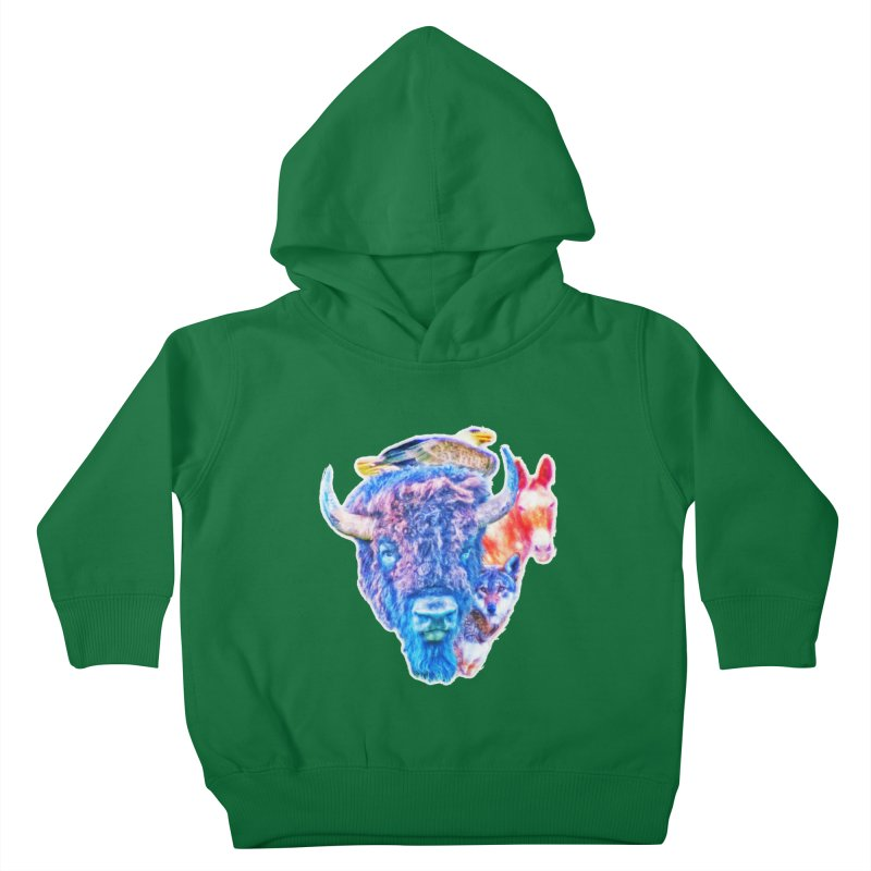 American Spirit Kids Toddler Pullover Hoody by Of The Wild by Kimberly J Tilley