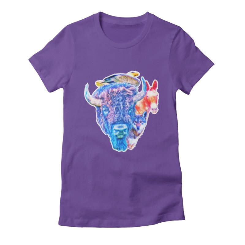 American Spirit Women's Fitted T-Shirt by Of The Wild by Kimberly J Tilley