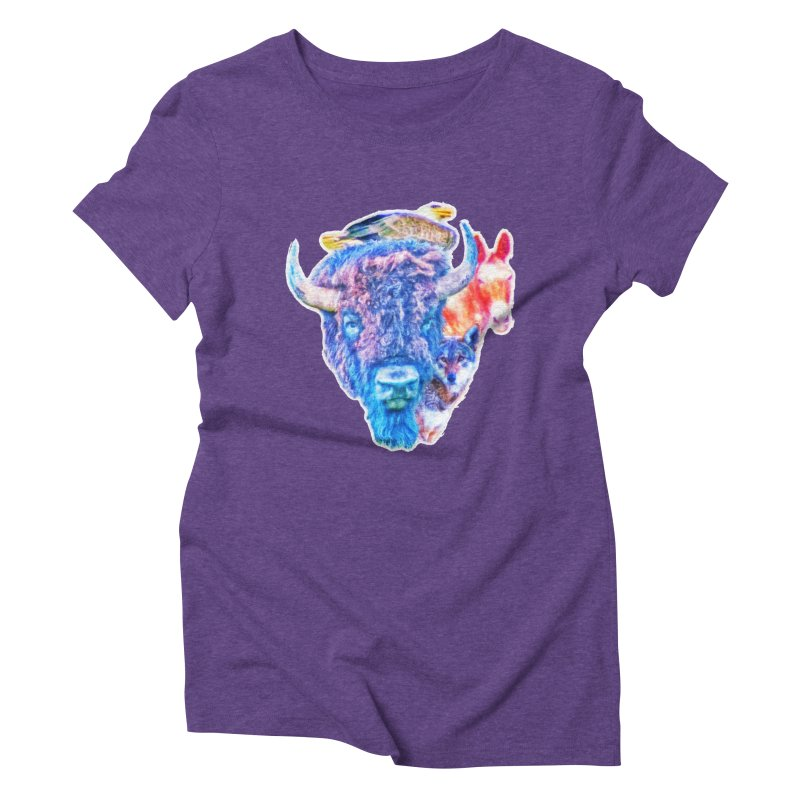 American Spirit Women's Triblend T-Shirt by Of The Wild by Kimberly J Tilley
