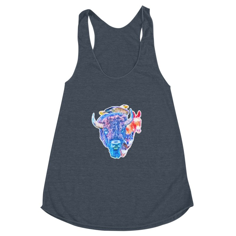 American Spirit Women's Racerback Triblend Tank by Of The Wild by Kimberly J Tilley