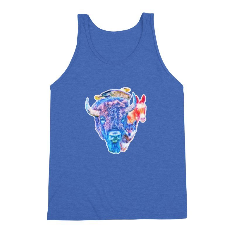American Spirit Men's Triblend Tank by Of The Wild by Kimberly J Tilley