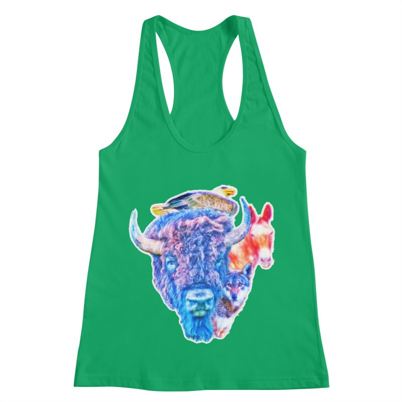 American Spirit Women's Racerback Tank by Of The Wild by Kimberly J Tilley