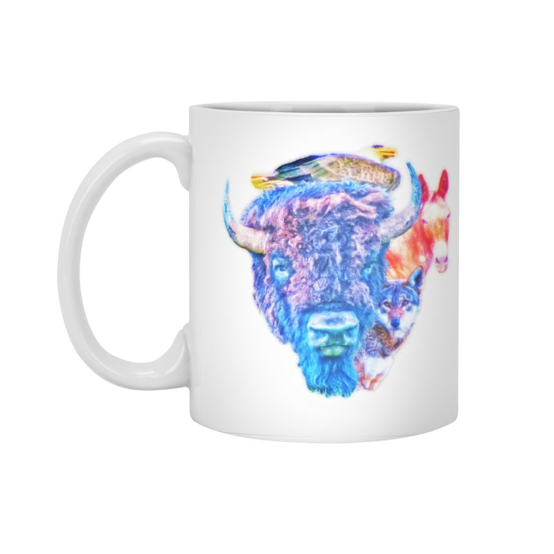 American Spirit Accessories Standard Mug by Of The Wild by Kimberly J Tilley
