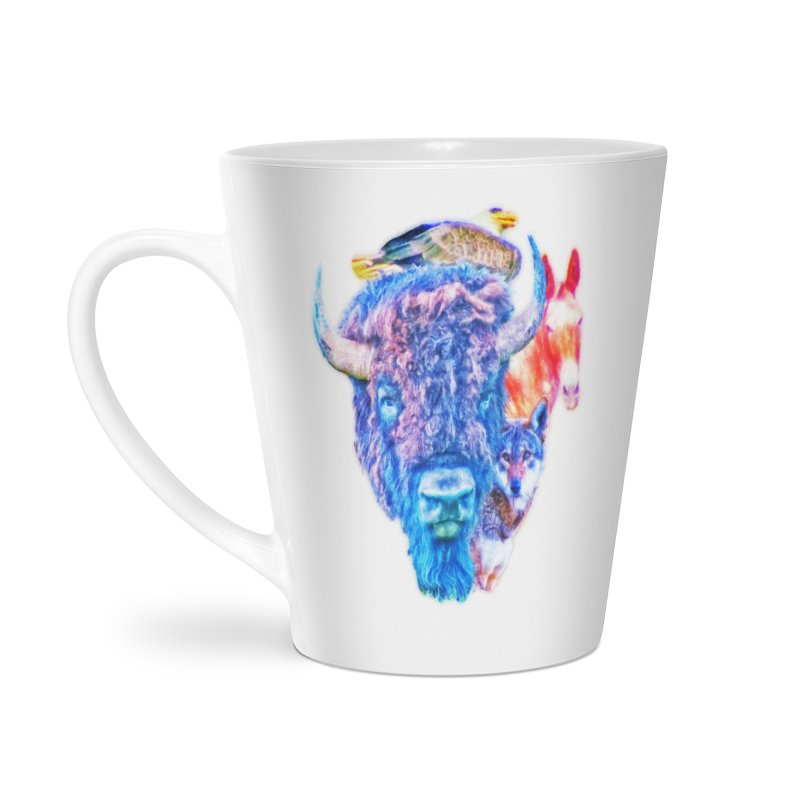 American Spirit Accessories Latte Mug by Of The Wild by Kimberly J Tilley