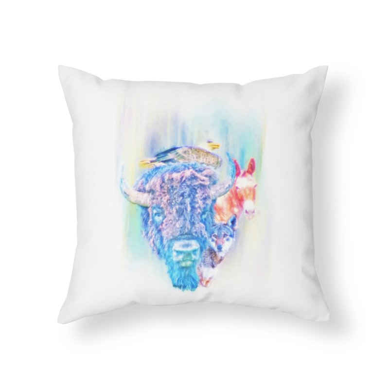 American Spirit Home Throw Pillow by Of The Wild by Kimberly J Tilley