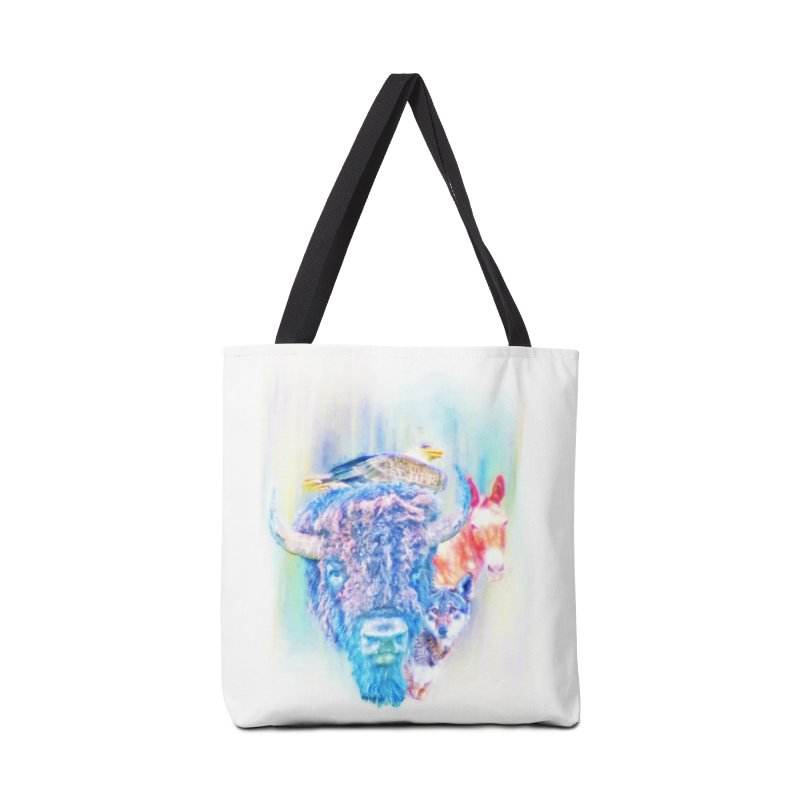 American Spirit Accessories Tote Bag Bag by Of The Wild by Kimberly J Tilley