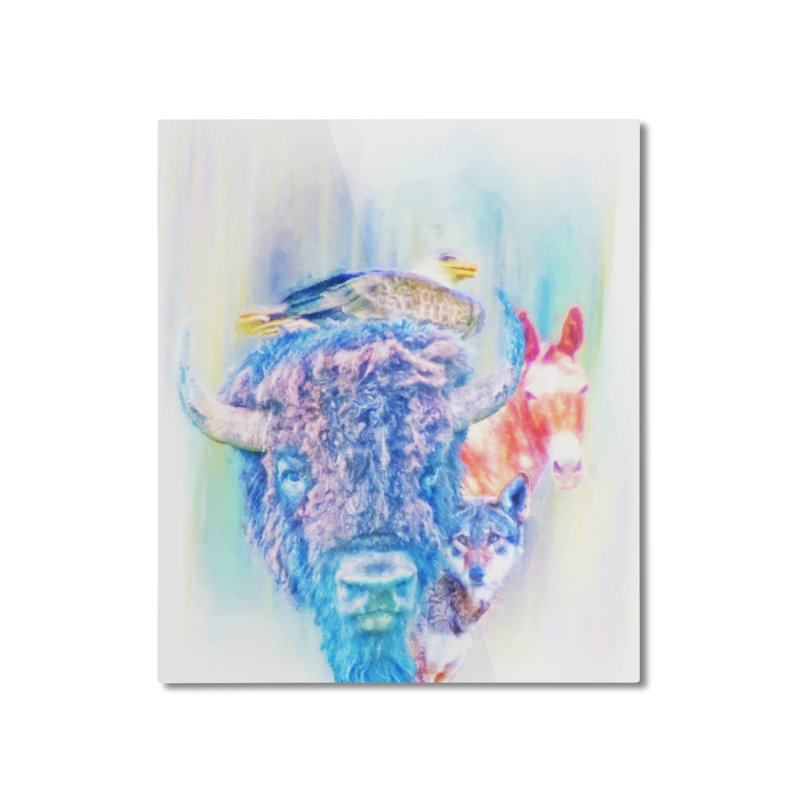 American Spirit Home Mounted Aluminum Print by Of The Wild by Kimberly J Tilley
