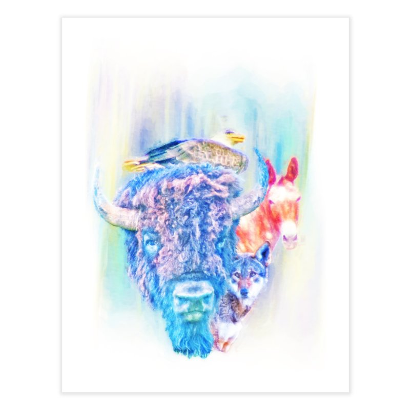 American Spirit Home Fine Art Print by Of The Wild by Kimberly J Tilley