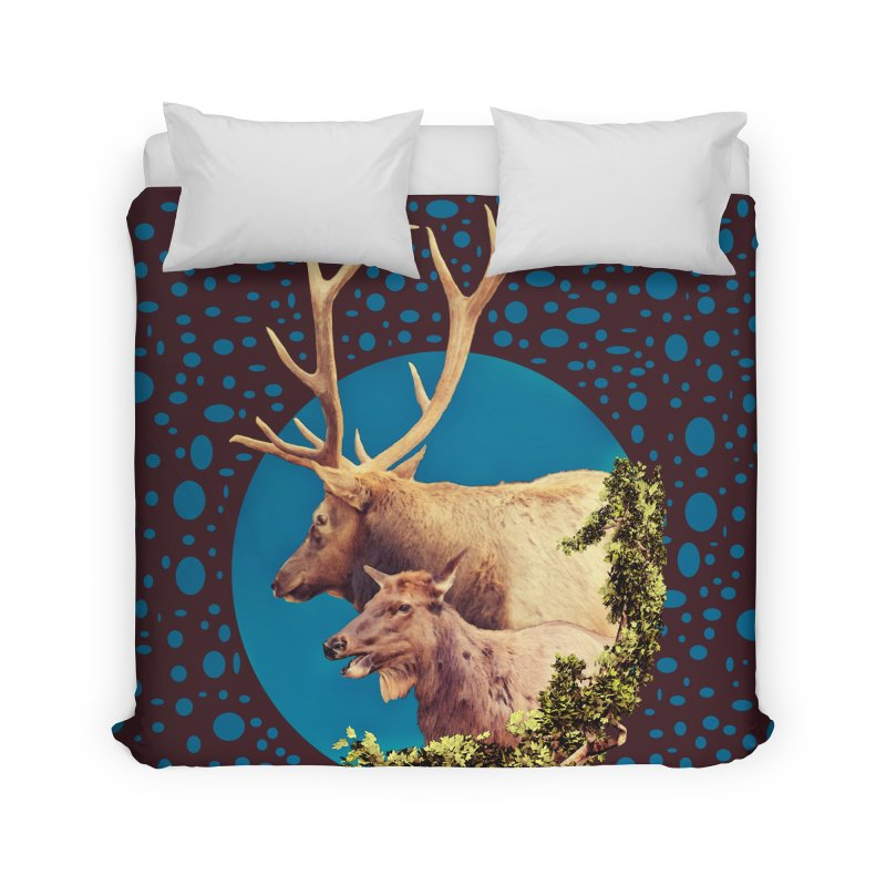 The Stag and the Hind Home Duvet by Of The Wild by Kimberly J Tilley
