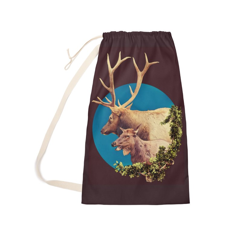 The Stag and the Hind Accessories Laundry Bag Bag by Of The Wild by Kimberly J Tilley