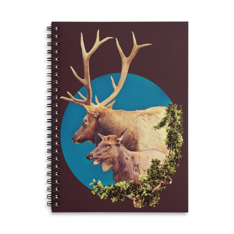 The Stag and the Hind Accessories Lined Spiral Notebook by Of The Wild by Kimberly J Tilley
