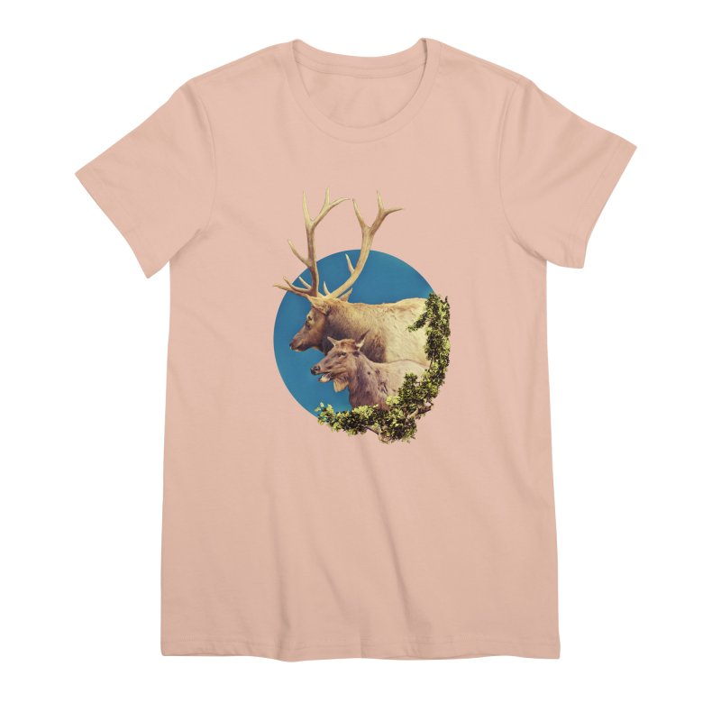 The Stag and the Hind Women's Premium T-Shirt by Of The Wild by Kimberly J Tilley
