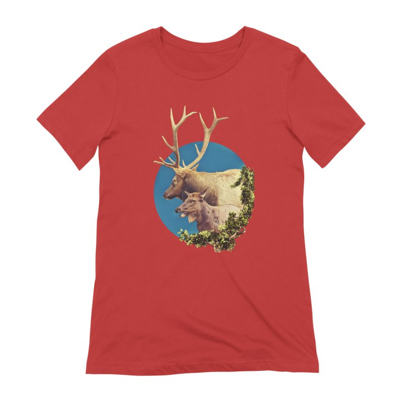 The Stag and the Hind Women's Extra Soft T-Shirt by Of The Wild by Kimberly J Tilley