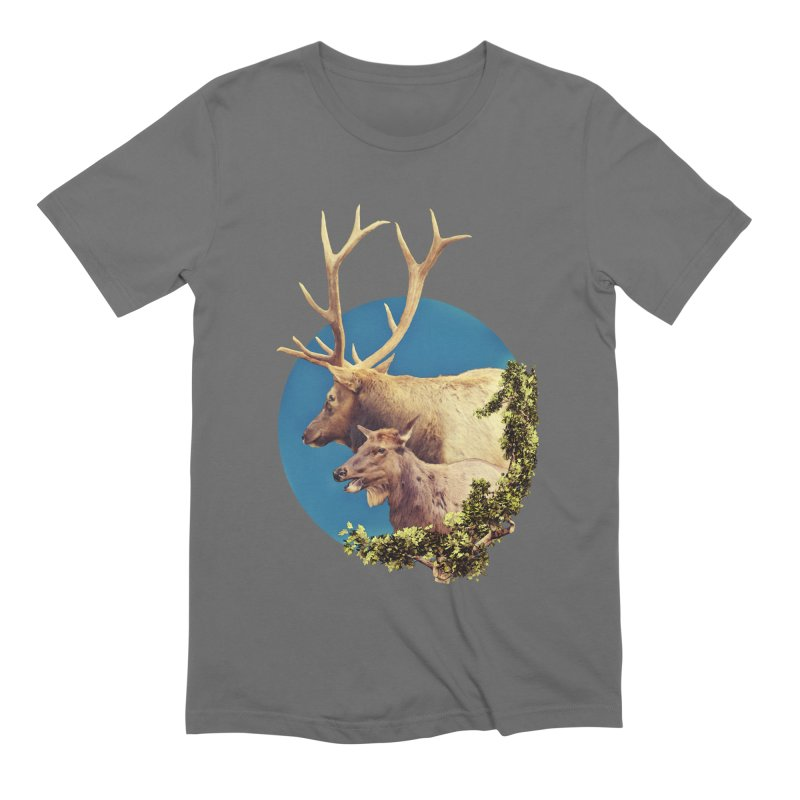 The Stag and the Hind Men's T-Shirt by Of The Wild by Kimberly J Tilley