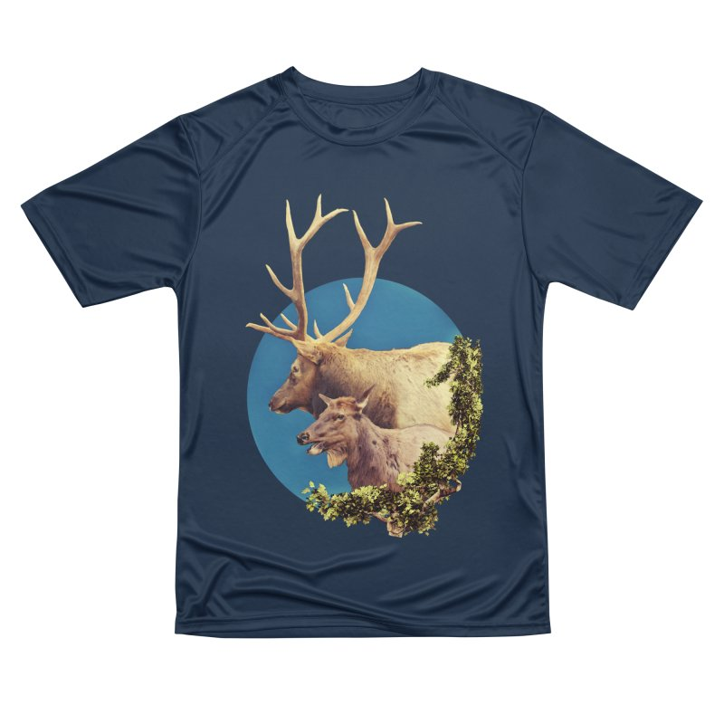 The Stag and the Hind Women's Performance Unisex T-Shirt by Of The Wild by Kimberly J Tilley