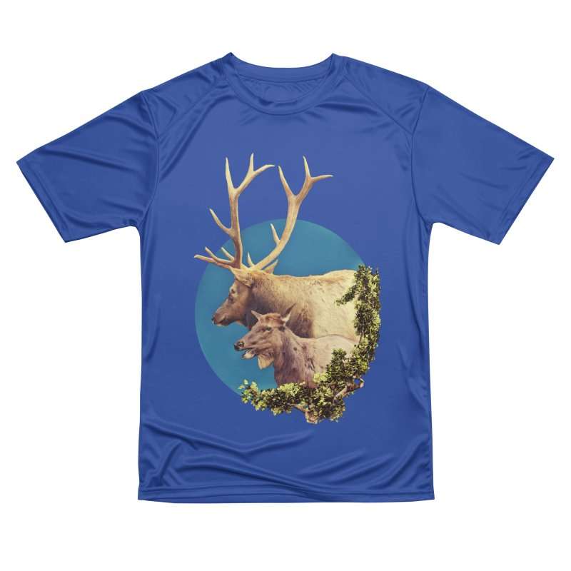 The Stag and the Hind Men's Performance T-Shirt by Of The Wild by Kimberly J Tilley