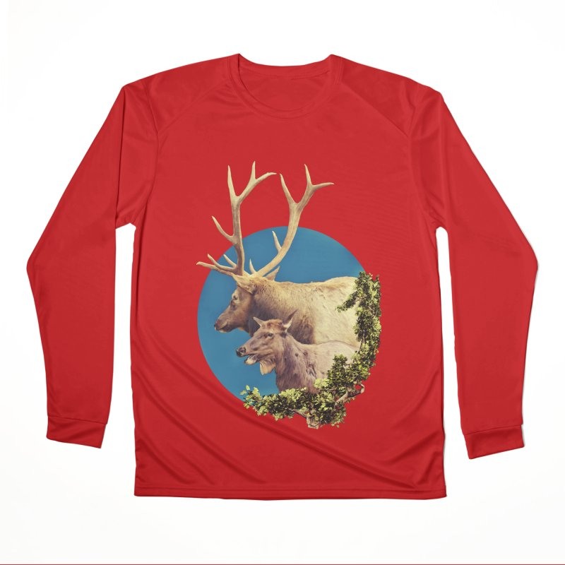 The Stag and the Hind Men's Performance Longsleeve T-Shirt by Of The Wild by Kimberly J Tilley