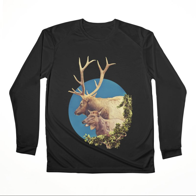 The Stag and the Hind Women's Performance Unisex Longsleeve T-Shirt by Of The Wild by Kimberly J Tilley