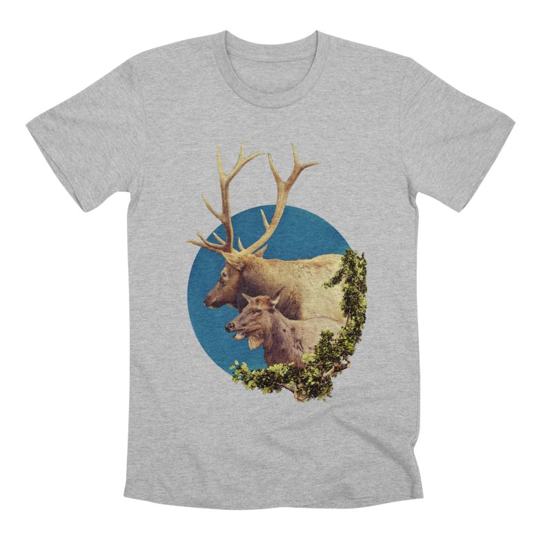 The Stag and the Hind Men's Premium T-Shirt by Of The Wild by Kimberly J Tilley