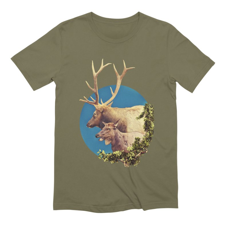 The Stag and the Hind Men's Extra Soft T-Shirt by Of The Wild by Kimberly J Tilley